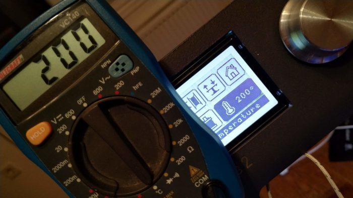 Hephestos 2 3D nyomtató HotEnd hőmérsékletének ellenőrzése