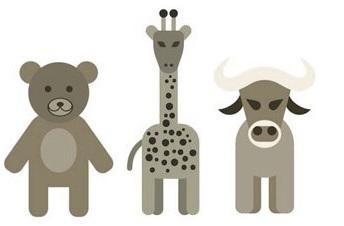 A medve, a zsiráf és a bika