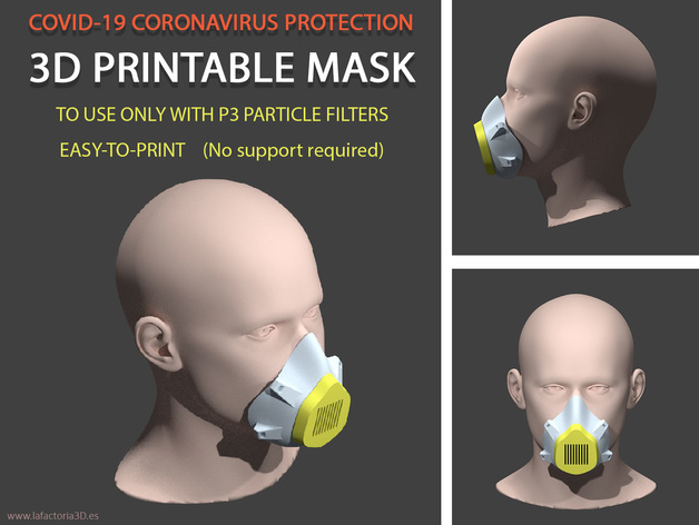 Covid-19 3d printable mask
