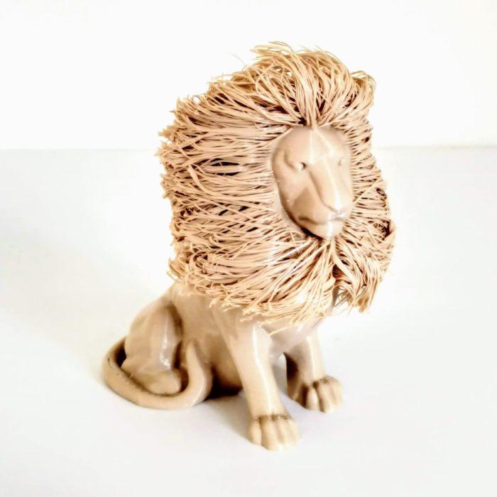 3D nyomtatott oroszlán